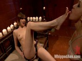 Appealing math major takes a break from abstract alegbra to be brutally drilled by Mistress Madeline!