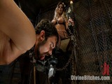 "From Worthless To Nice In Five Mistresses: Clip THREE, ""Chastity CBT"""
