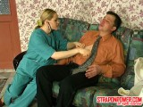 Susanna and Monty strapon humiliate clip