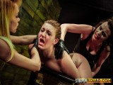 Ache Sex Gimp Aryah May is Used & Ruined by Mila Blaze & Brooklyn Daniels