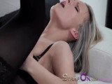 Blond MILF getting both fuckholes packed